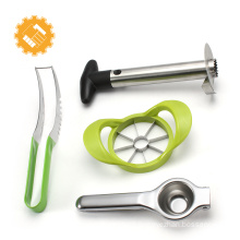 fruit tools set, 4pcs, tcitrus peeler, corer, melon spoon/baller, Avocado/kiwi slicer